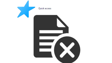 delete files from quick access to recycle bin