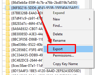 export the key