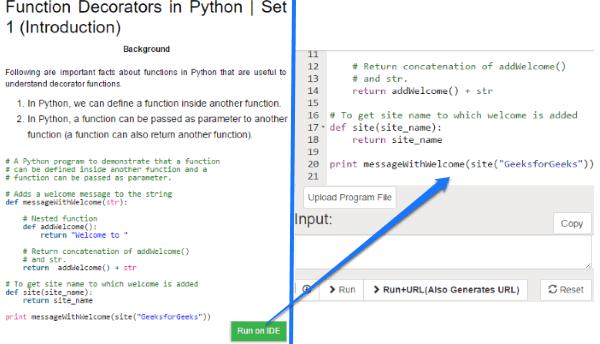 geeksforgeeks- code python online