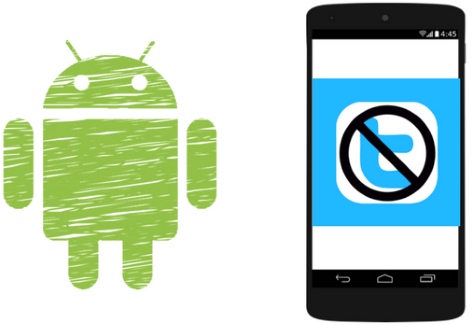 how to block access to twitter android app for specific time range