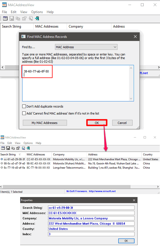 macaddressview comoany details