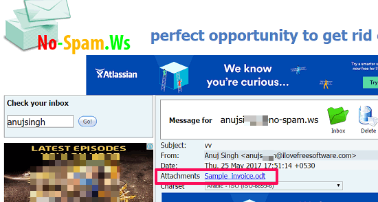 nospam.ws in action