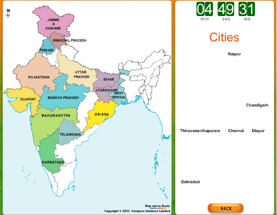 online map of india