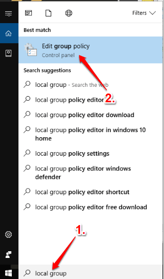 open local group policy