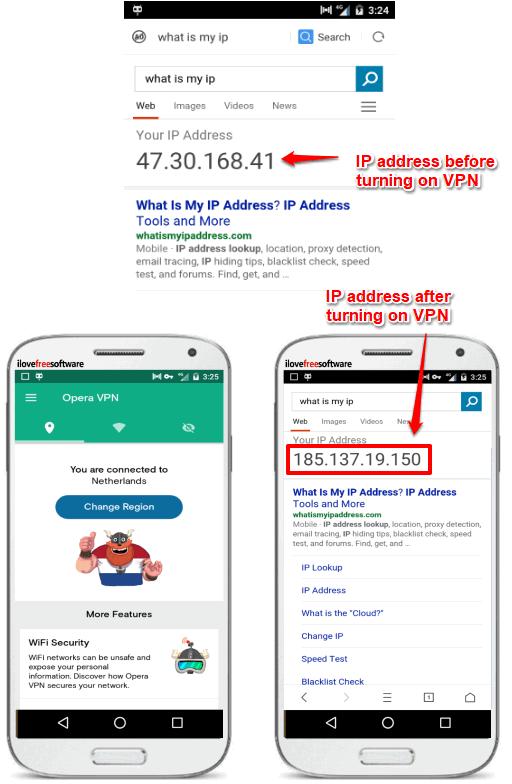 opera free VPN changing public IP