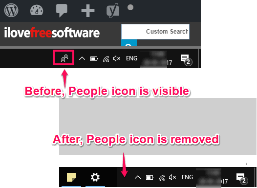 people icon removed from taskbar in windows 10