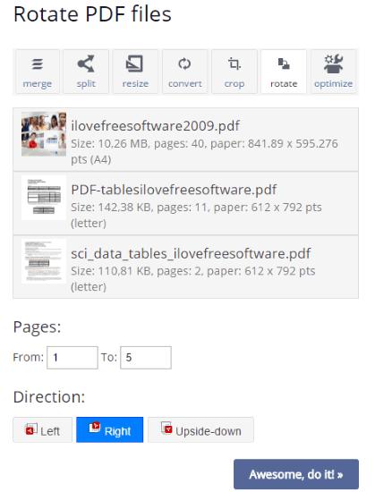 rotate pdf files by pdfresizer.com website