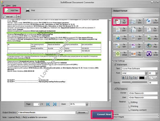 soft4boost document convertern odt to pdf
