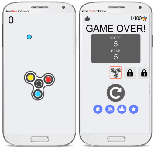 spinny fidget android game