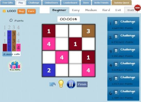 5 Free Sudoku Game for Facebook Not to be Missed