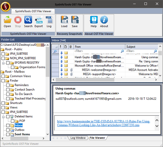 systools ost file veiwer