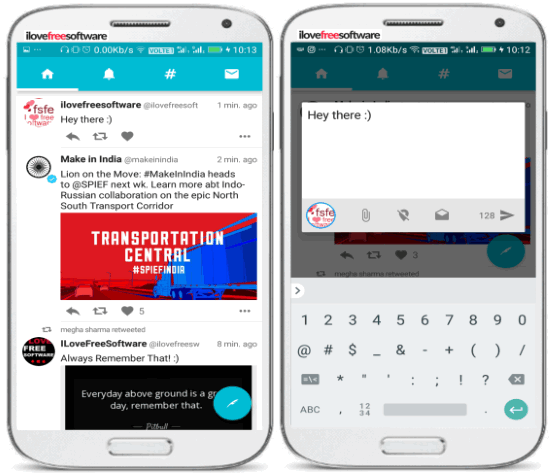 twidere- lightweight android app