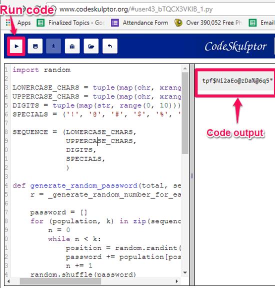 Codeskulptor online code editor