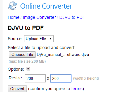 DJVU to PDF website