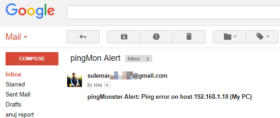 Free Ping Monitor Software with Email Alerts, Monitor Multiple Hosts