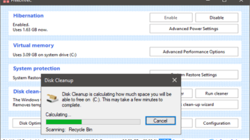 Free Software to Cleanup C Drive, Access Useful Windows feat