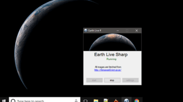 How to Set Live View of Earth as Desktop Wallpaper