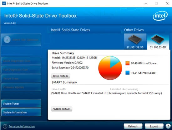 Intel SSD toolbox review