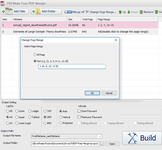 PDFMate Free PDF Merger- interface