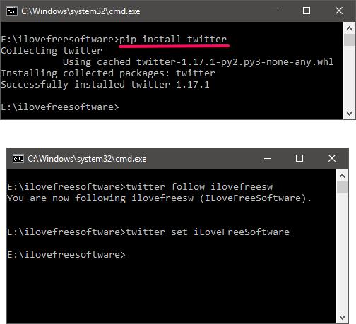 Python Twitter Tools installing windows