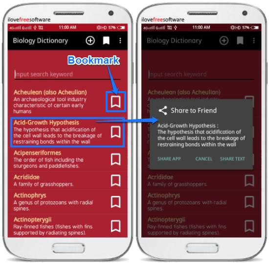 biology dictionary android offline app