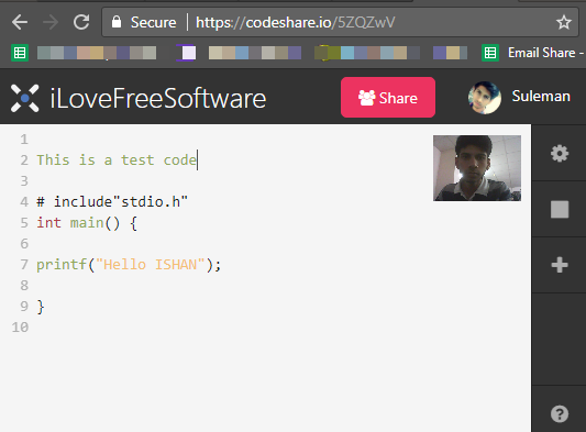 code share video chat