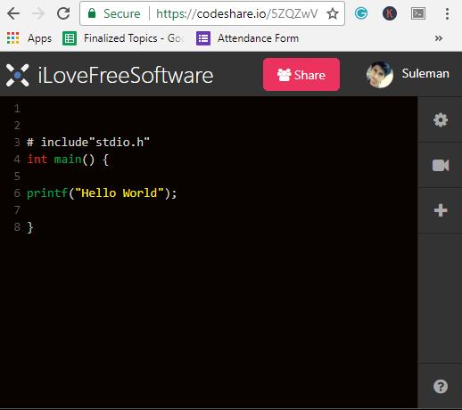 codeshare code editor