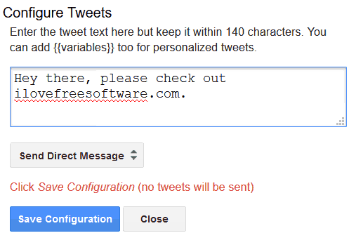 configure twitter dm to be sent to multiple users