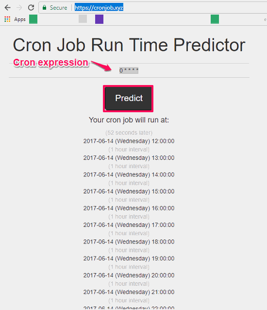 cron job runtime prediction in action