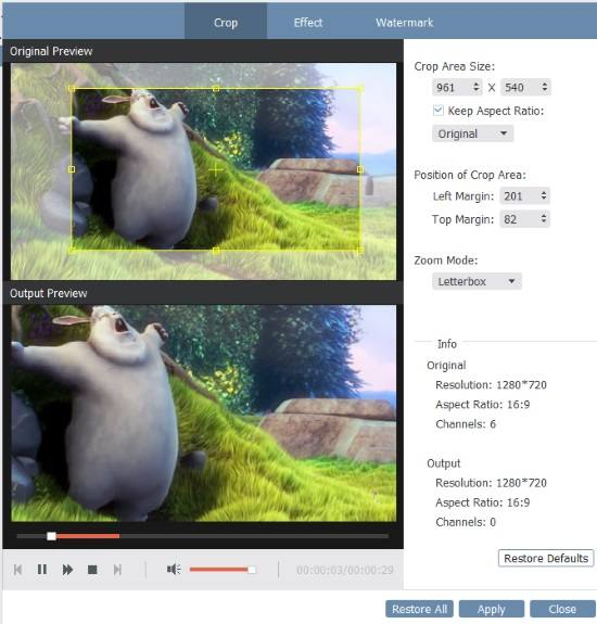 crop video and convert to gif