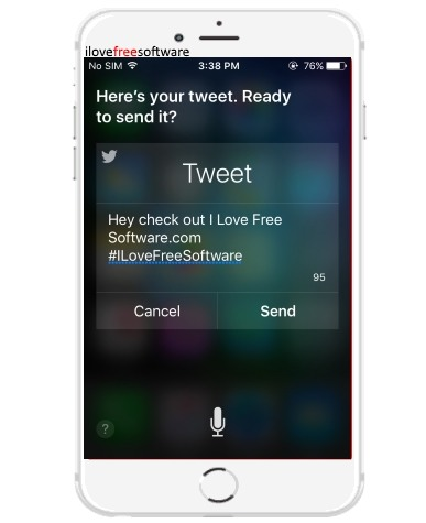 how to post tweets using siri