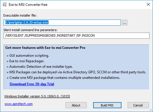 2 Free EXE to MSI Converter Software
