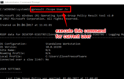 execute command for current user
