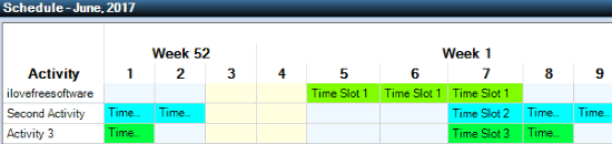 free class schedule maker- time table generated