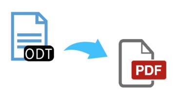 free odt to pdf converter websites