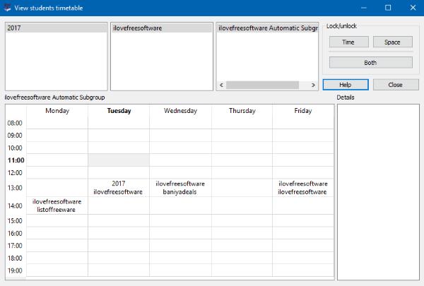 free timetabling software