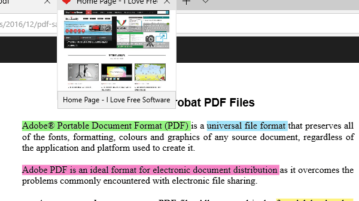 highlight pdf files in microsoft edge