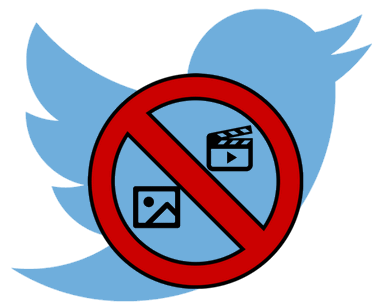 how to hide twitter photos and videos