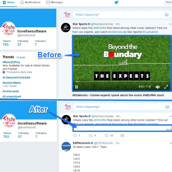 how to hide videos from Twitter timeline