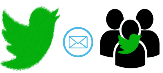 how to same dm to multiple twitter users