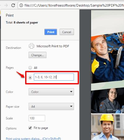 microsoft print to pdf feature