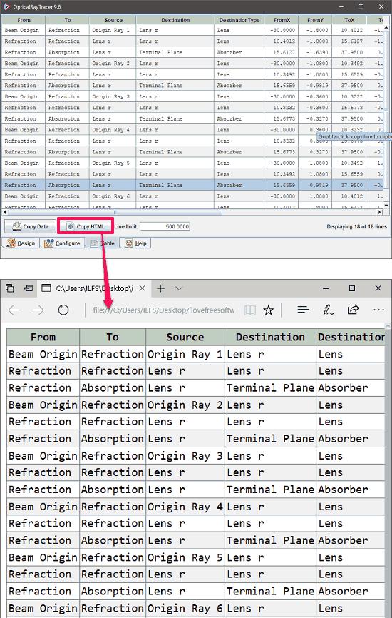 opticalraytracer export html