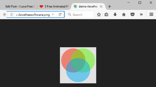 play animated png files using firefox browser