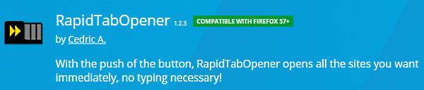 RapidTabOpener Firefox