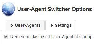 remember last user user agent