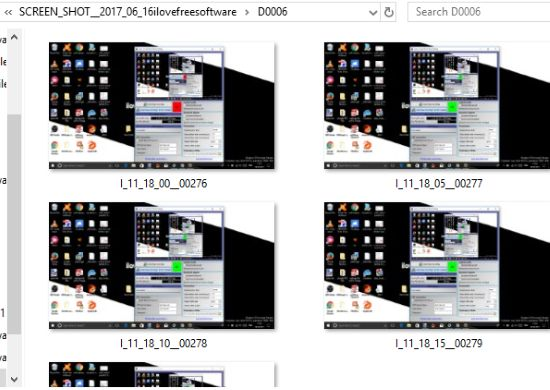 screenshots captured automatically and stored in folder