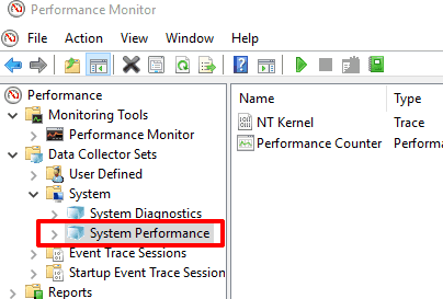 select system performance