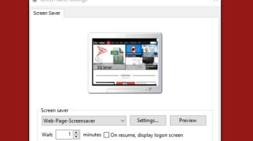 set webpage as screensaver in windows 10