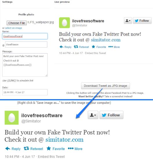 simitator- fake tweet generator