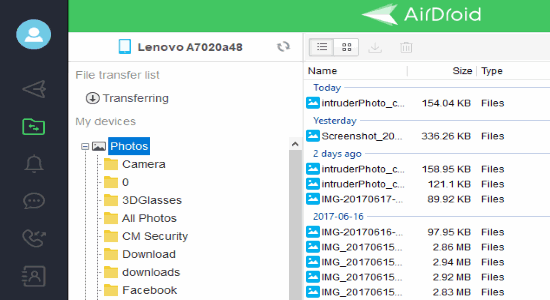 transfer files between pc and android